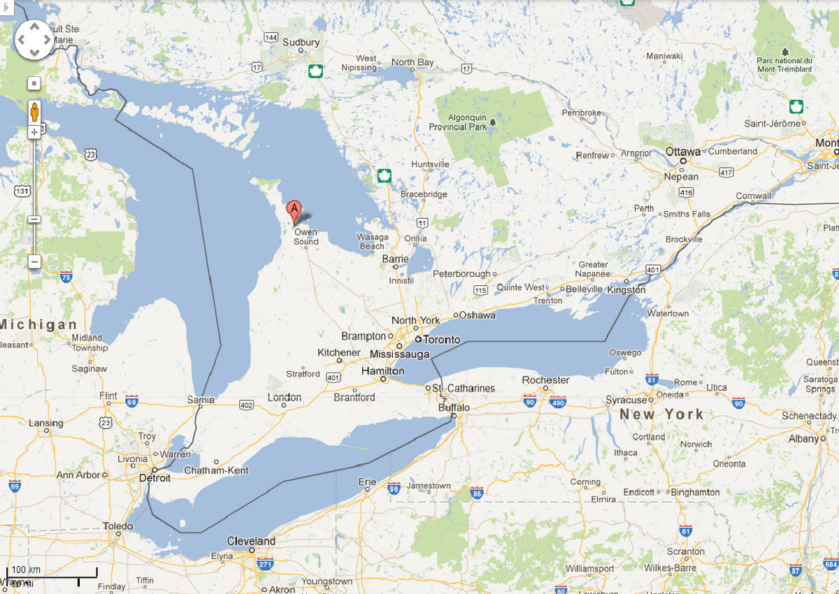 south west canada map zooming in somewhat this second map focuses on southwestern ontario canada showing